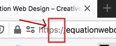 Example of a website employing HTTPS protocol to ensure security of your website