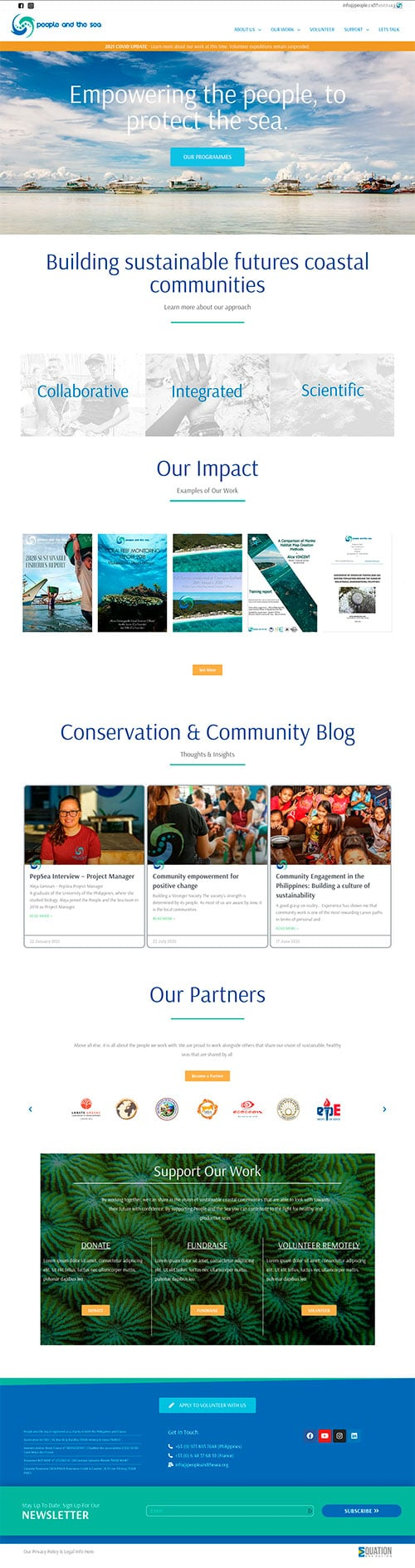 Example of redesign of a small charity website to boost SEO and brand awareness