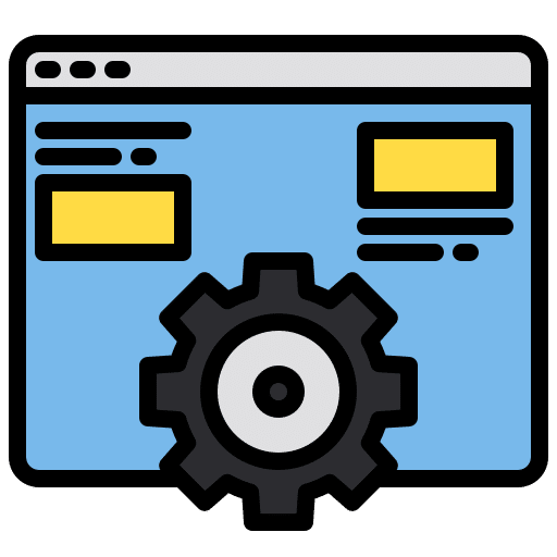 Icon for adjusting the website settings to achieve optimised performance across all web browsers
