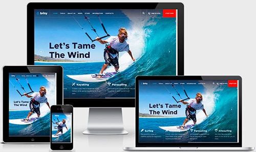 Responsive website examples of small business website
