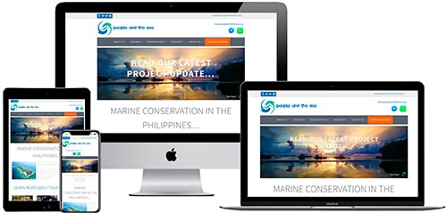 Example of responsive web design for small charitable enterprise in Philippines